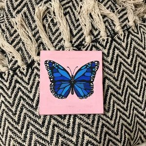 Hand painted butterfly painting